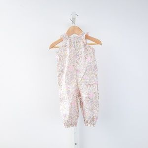 Bonpoint One Pieces - Bonpoint Floral Ruffled Baby Onesie